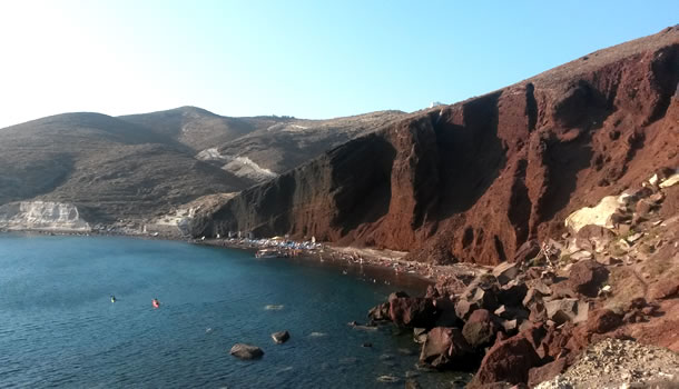 Private Tour to visit the famous Red Beach in Santorini